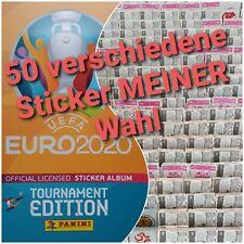 ⚽️50 Verschiedene Sticker Meiner Wahl Panini Uefa Euro 2020 Tournament Edition