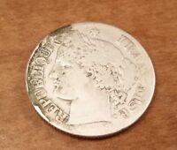 France 2 Francs 1871, .900 silver, see photos