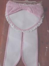 Fiocco coccarda nascita cuore rosa