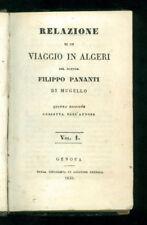 PANANTI FILIPPO RELAZIONE DI UN VIAGGIO IN ALGERI PENDOLA 1830 ALGERIA AFRICA
