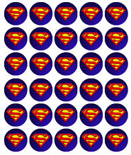 Logotipo de Superman Papel De Oblea Comestible Cake Toppers X 30