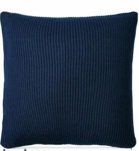 """Ralph Lauren Flora Rib Knit Blue 18"""" x18"""" Decorative Pillow Navy $135"""