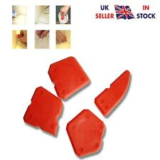 Red Silicone Sealant Spreader Profile Applicator Tile Fugi Grout Tool Set of 4