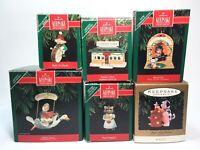 Lot of 6 SANTAS 1990-1993 Hallmark Keepsake Collector's Ornaments