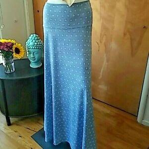 LuLaRoe Blue & White Convertable/Comfortable Maxi Skirt-Tube Top Dress Size L
