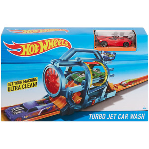 Hot wheels Turbo Jet Car Wash City Fold-out Play Set Kids Childrens Toy Mattel