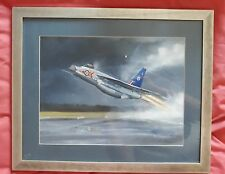 Jon Westwood Original Oil Painting Of Lightning Aircraft Taking Off Signed
