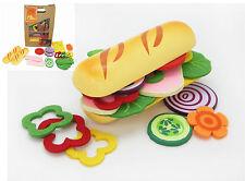 Make Create Own Baguette Roll Wooden Felt Pretend Play Educational Kitchen Food