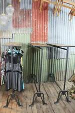 Industrial Cast Iron & Reclaimed Timber Clothes Rack - 3 Available