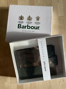 BARBOUR Leather RFID protected  Wallet - Olive - New / Boxed