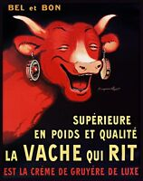 Decoration Poster.Home room art.Interior design.Vache Rit.Cheese.Cow laugh.7255