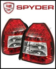Spyder Honda Civic 96-00 3DR LED Tail Lights Red Clear