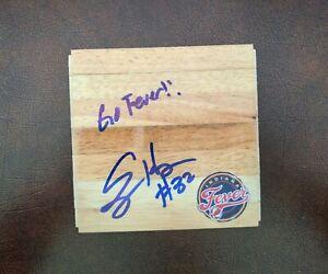 "Ebony Hoffman Signed Autograph 6x6"" WNBA Basketball Wood Floor Board Piece 100%"