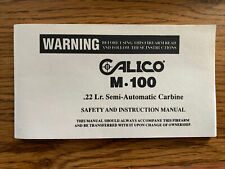 Calico M.100 Safety And Instruction Manual
