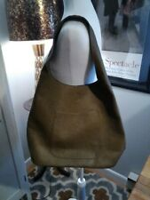 Green Vinyl Womans Tote Shouder Bag Large