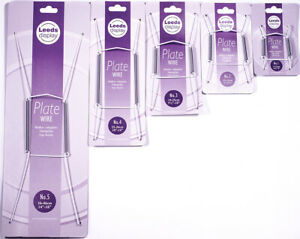 """Wire Plate Hangers White  - Leeds Display sizes 9-46cm, 3.5 to 18"""" Wall, Holder"""