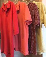 Lot Mens Short Sleeve Shirts Polo Golf T Shirt Size Medium M Dockers Van Heusen