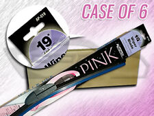 "AUTOTEX 19"" AP-019 BLACK BEAM FLEX WIPER BLADES CS OF 6 BREAST CANCER AWARENESS"