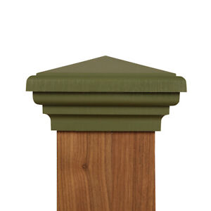 """4X4 Post Cap (3.5"""") - Green Pyramid New England Style Top Fence Post Cap"""