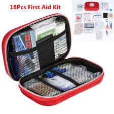 18× Car Home Outdoor First Aid Kit Medical Emergency Survival Bag Red Waterproof