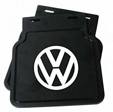 VW BUG MUD FLAPS PAIR BLACK WITH BRACKETS 1950 ON FITS ALL BUGS 111821805B