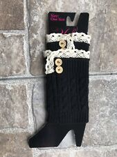 Black Knit leg warmers Boot