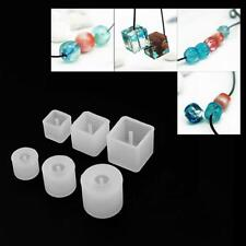 6pcs Silicon Resin Casting Round Square Mold Jewelry Mould DIY Craft ba#cd