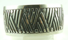 Cuff Bracelet with Patterns Sterling Silver .925 Stylish Jewelry