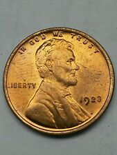 1923 red   Lincoln  BU Uncirculated wheat 1