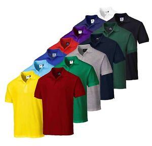 PORTWEST Naples Polo Shirt Polycotton Corporate Uniform Casual Leisure Work B210