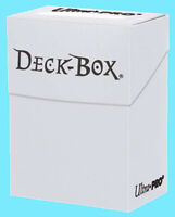 Ultra Pro DECK BOX WHITE Card Holder Standard & Small Size storage gaming 82591
