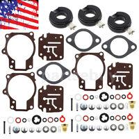 3 x Carburetor Carb Rebuild Repair Kit w/ Float For Johnson Evinrude 65 70 75 HP