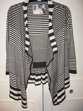 Gestreifte Damen-Strickjacken aus Baumwollmischung