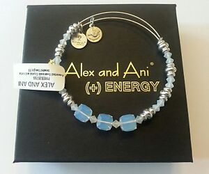 Alex and Ani White Swarovski Crystal & Silver Beaded Bracelet BOX NWT RETIRED