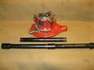 """Ridgid 65-RA Ratchet Pipe Threader & Handle 1""""- 2""""  Cleaned Greased Ready 2 Work"""