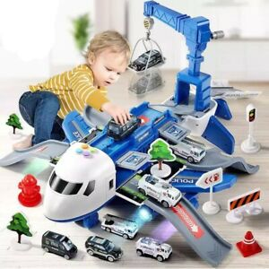 Kids Toys Transport Airplane Educational Toy Plane Play Set for Toddler Boys