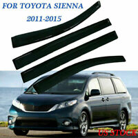 For Toyota Sienna 2011-2018 Window Visor Vent Sun Shade Rain Guard Door Visor US