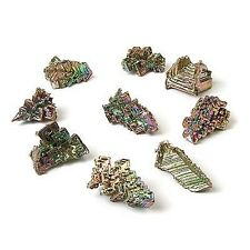 5 Bismuth Crystals collection, 30-45g authentic laboratory made, jewelry