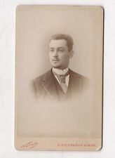 PHOTO ANCIENNE CDV Portrait Homme NADAR Vers 1880 Paris Cravate Barbe Barbu