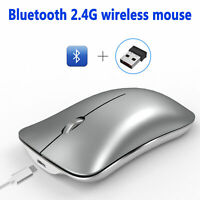 Wireless Mouse 2.4GHz Rechargeable Optical Mice For Macbook Laptop PC Tablet