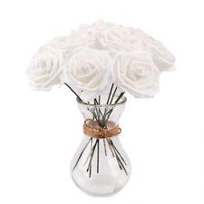 20 Foam Roses Artificial Fake Flowers Heads Wedding Bouquet Party Home Decor DIY