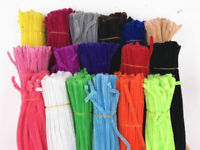 "100PCS DIY For Chenille Craft Stems Pipe Cleaners 30cm 12"" - Lots of Colours"