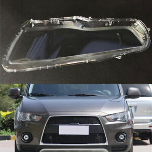 For Mitsubishi Outlander 2010 2011 Car Headlight Clear Lens Auto Shell Cover
