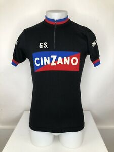 CINZANO Embroidered ALESSANDRO Merino Wool Mens Md. Cycling Jersey Sweater