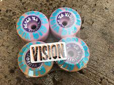 Old School NOS Vintage Vision Big Wheel Skateboard Wheels Dead Stock 67mm Purple