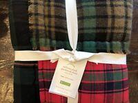 Pottery Barn Sullivan Christmas Euro Sham Plaid Decor Throw Pillow 26x26 New