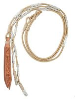 Show Ring Romel Reins - Tan - Sterling Silver Plated - 28 oz