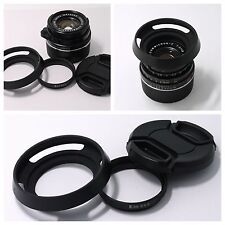 Adapter Ring + Hood + cap Leica E39 to Summicron-C 40/2 (S5.5) f/2.0 Lens camera