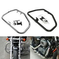 Engine Guard Crash Bar For Harley Sportster 883 1200 XL XR 84-03 Chrome/Black
