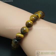 Natural Mixed Gemstone 10mm Round Beads Handmade Stretchy Bracelet Healing Reiki
